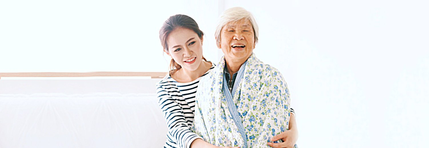 Caregiver and the elderly